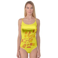 Yellow abstraction Camisole Leotard