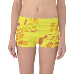 Yellow abstraction Boyleg Bikini Bottoms