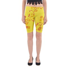 Yellow abstraction Yoga Cropped Leggings