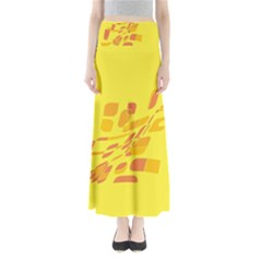 Yellow abstraction Maxi Skirts