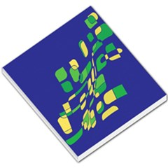 Blue abstraction Small Memo Pads