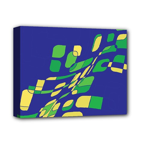 Blue abstraction Deluxe Canvas 14  x 11