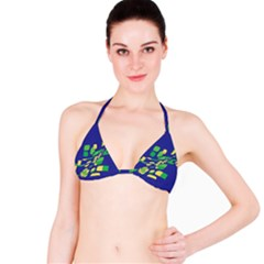 Blue abstraction Bikini Top