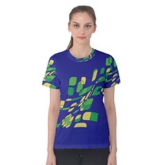 Blue abstraction Women s Cotton Tee