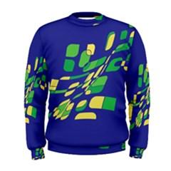 Blue abstraction Men s Sweatshirt