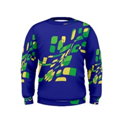 Blue abstraction Kids  Sweatshirt
