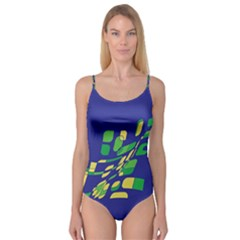 Blue abstraction Camisole Leotard