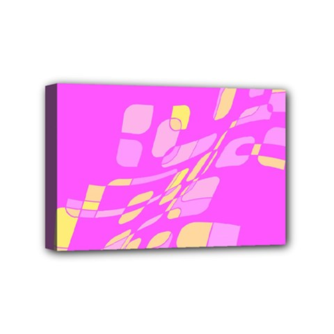 Pink abstraction Mini Canvas 6  x 4