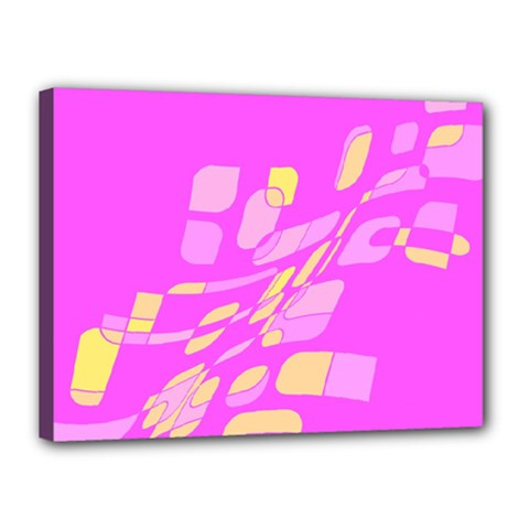 Pink abstraction Canvas 16  x 12