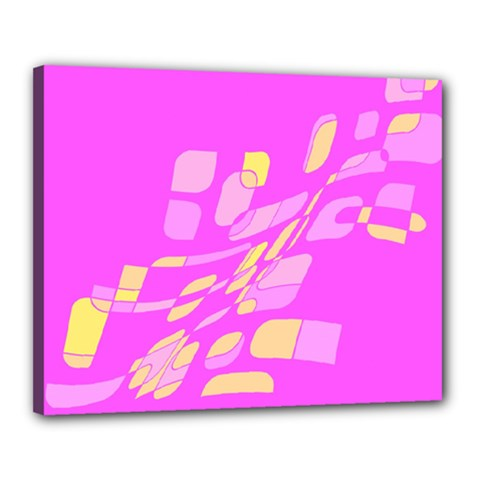 Pink abstraction Canvas 20  x 16