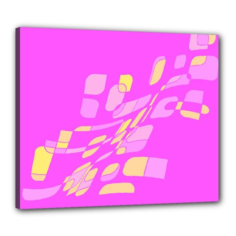 Pink abstraction Canvas 24  x 20