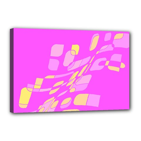 Pink abstraction Canvas 18  x 12