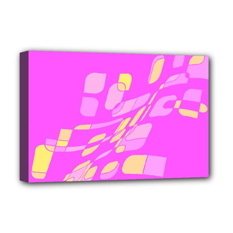 Pink abstraction Deluxe Canvas 18  x 12