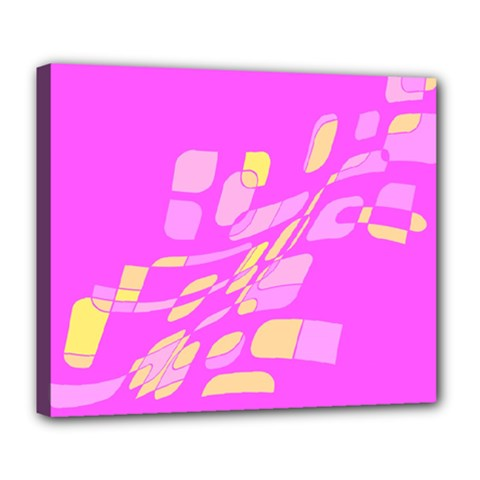 Pink abstraction Deluxe Canvas 24  x 20