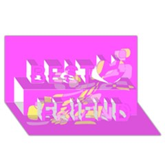 Pink abstraction Best Friends 3D Greeting Card (8x4)