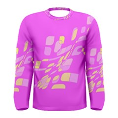 Pink abstraction Men s Long Sleeve Tee