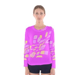 Pink abstraction Women s Long Sleeve Tee