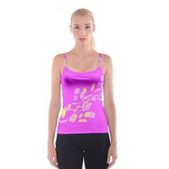 Pink abstraction Spaghetti Strap Top