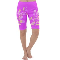 Pink abstraction Cropped Leggings
