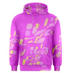 Pink abstraction Men s Pullover Hoodie