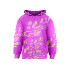 Pink abstraction Kids  Pullover Hoodie