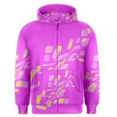 Pink abstraction Men s Zipper Hoodie