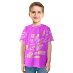 Pink abstraction Kid s Sport Mesh Tee
