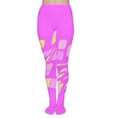 Pink abstraction Women s Tights