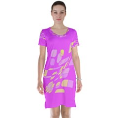 Pink abstraction Short Sleeve Nightdress