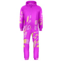 Pink abstraction Hooded Jumpsuit (Men)