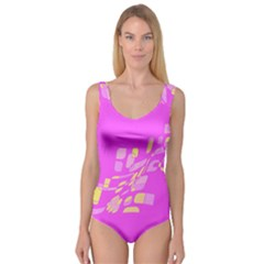Pink abstraction Princess Tank Leotard