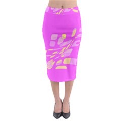 Pink Abstraction Midi Pencil Skirt
