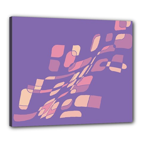 Purple abstraction Canvas 24  x 20