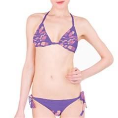 Purple abstraction Bikini Set