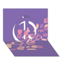 Purple abstraction Peace Sign 3D Greeting Card (7x5)
