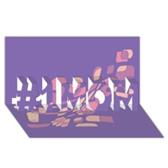 Purple abstraction #1 MOM 3D Greeting Cards (8x4)