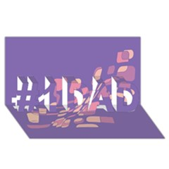 Purple abstraction #1 DAD 3D Greeting Card (8x4)