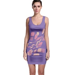 Purple abstraction Sleeveless Bodycon Dress