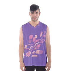 Purple abstraction Men s Basketball Tank Top