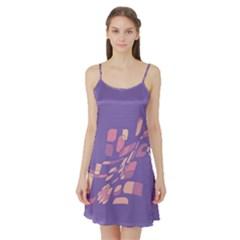Purple abstraction Satin Night Slip