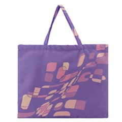 Purple abstraction Zipper Large Tote Bag
