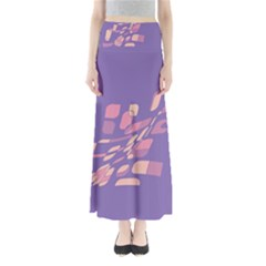Purple Abstraction Maxi Skirts