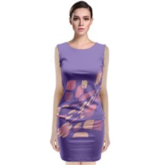 Purple Abstraction Classic Sleeveless Midi Dress
