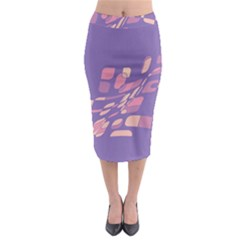 Purple abstraction Midi Pencil Skirt