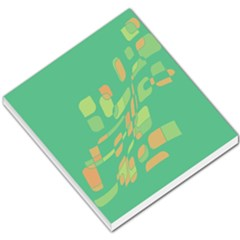 Green abastraction Small Memo Pads