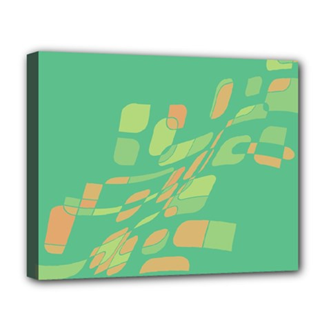 Green abastraction Deluxe Canvas 20  x 16