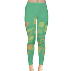 Green abastraction Leggings