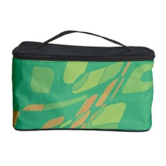 Green abastraction Cosmetic Storage Case