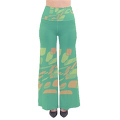 Green abastraction Pants