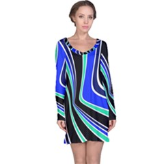Colors of 70 s Long Sleeve Nightdress
